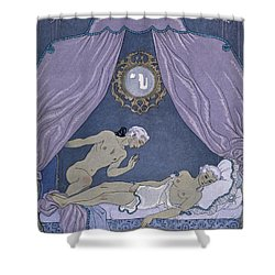 Scene From 'les Liaisons Dangereuses' Shower Curtain by Georges Barbier