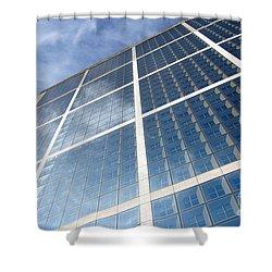 Skyscraper Shower Curtain by Michal Bednarek