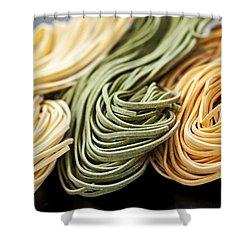 Tagliolini Pasta Shower Curtain by Elena Elisseeva