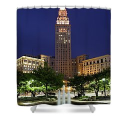 Terminal Tower Part Two Shower Curtain by Frozen in Time Fine Art Photography