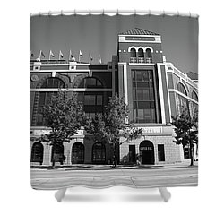 Texas Rangers Ballpark In Arlington Shower Curtain by Frank Romeo