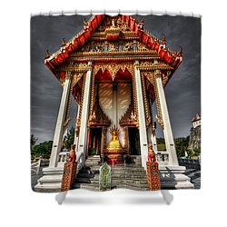 Thai Temple Shower Curtain by Adrian Evans