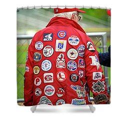 The Baseball Fan Shower Curtain by Frank Romeo