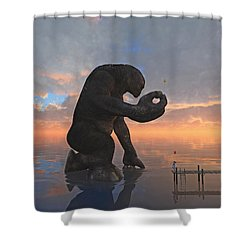 The Gift Shower Curtain by Cynthia Decker