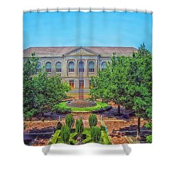 The Old Main - University Of Arkansas Shower Curtain by Mountain Dreams