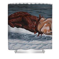 The Rut Shower Curtain by Matthew Blum