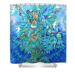 Tree Of Life  Shower Curtain by Trudi Doyle