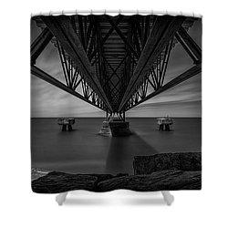 Under The Pier Shower Curtain by James Dean