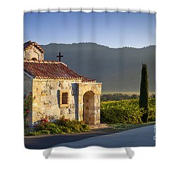Vineyard Prayer Chapel Shower Curtain by Brian Jannsen