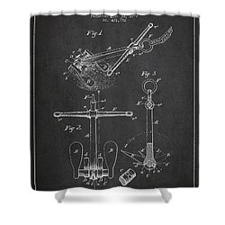Vintage Ship Anchor Patent From 1892 Shower Curtain by Aged Pixel