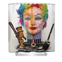 What The Hell Was She Smoking Shower Curtain by Keri Joy Colestock