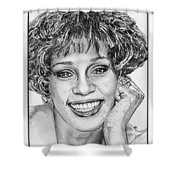 Whitney Houston In 1992 Shower Curtain by J McCombie