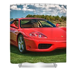 2001 Ferrari 360 Modena Shower Curtain by Sebastian Musial