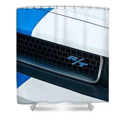 2011 Dodge Challenger Rt Grille Emblem Shower Curtain by Jill Reger