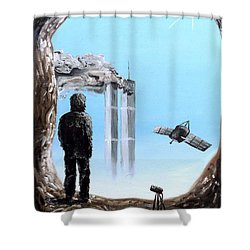 2012-confronting Inevitability Shower Curtain by Ryan Demaree