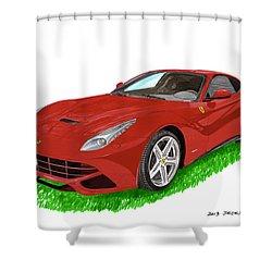2012 F12 Ferrari Berlinetta Gt Shower Curtain by Jack Pumphrey