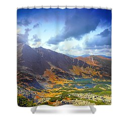 Mountains Landscape Shower Curtain by Michal Bednarek