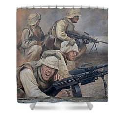 29 Palms Mural 1 Shower Curtain by Bob Christopher
