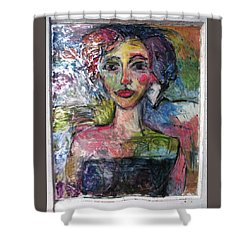 2nd Orbit B Attitude Shower Curtain by Mykul Anjelo
