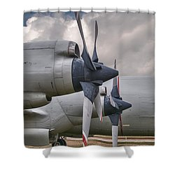 3 And 4 Shower Curtain by Guy Whiteley