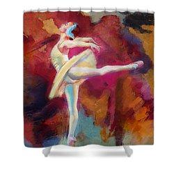 Ballet Dancer Shower Curtain by Corporate Art Task Force