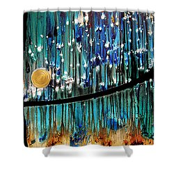 Colorful Abstract Shower Curtain by Sharon Cummings