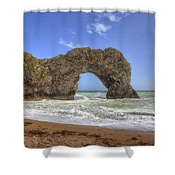 Durdle Door Shower Curtain by Joana Kruse