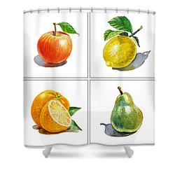 Farmers Market Delight  Shower Curtain by Irina Sztukowski