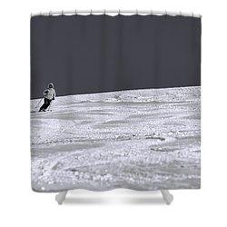 First Run Shower Curtain by Sebastian Musial