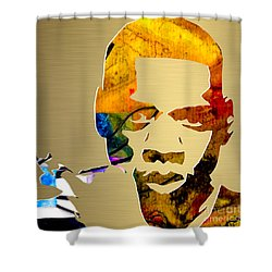 Jay Z Gold Series Shower Curtain by Marvin Blaine