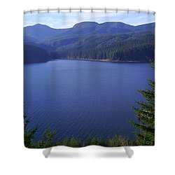 Lakes 1 Shower Curtain by J D Owen