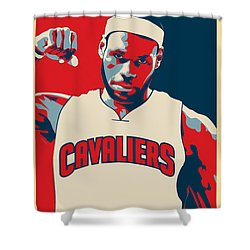 Lebron James Shower Curtain by Taylan Soyturk