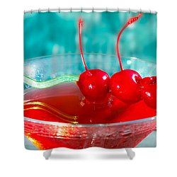 Shirley Temple Drink Shower Curtain by Iris Richardson