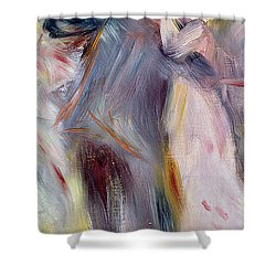 The Dance In The Country Shower Curtain by Pierre Auguste Renoir