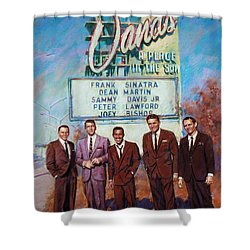 The Rat Pack Shower Curtain by Viola El