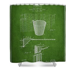 Vintage Basketball Goal Patent From 1925 Shower Curtain by Aged Pixel