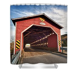 Wooden Covered Bridge  Shower Curtain by Ulrich Schade