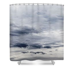 Clouds Shower Curtain by Les Cunliffe