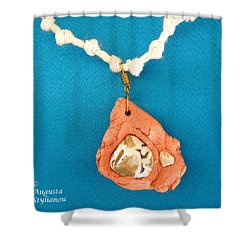 Aphrodite Gamelioi Necklace Shower Curtain by Augusta Stylianou