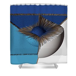 3d Abstract 19 Shower Curtain by Angelina Vick