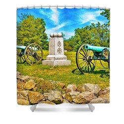 3rd Massachusetts Battery Gettysburg National Military Park Shower Curtain by Bob and Nadine Johnston