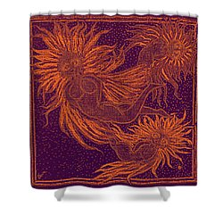 Angels At Play Shower Curtain by Lyn Dufty