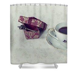 Coffee Time Shower Curtain by Joana Kruse