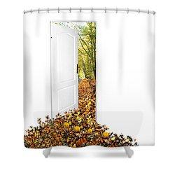 Door To New World Shower Curtain by Michal Bednarek