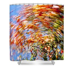 Fall Abstract Shower Curtain by Steven Ralser