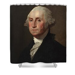 George Washington Shower Curtain by Gilbert Stuart