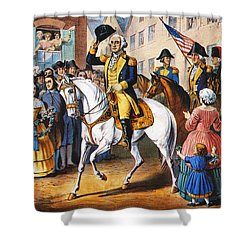 George Washington Shower Curtain by Granger