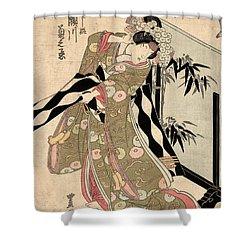 Japan: Tale Of Genji Shower Curtain by Granger
