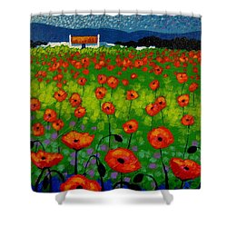 Poppy Field Shower Curtain by John  Nolan