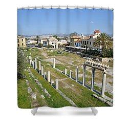 Roman Market Shower Curtain by George Atsametakis